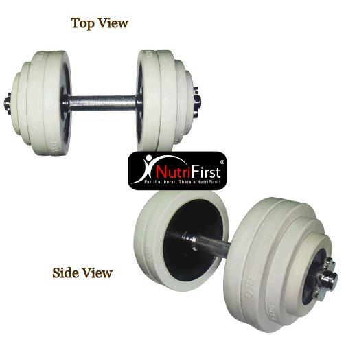 O'Bells Dumbbell Set with Rubber Ring (ONLY 1 DUMBBELL) (30Kg)