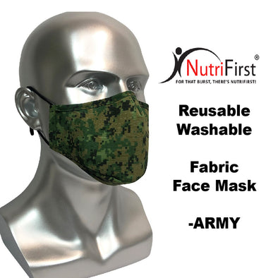 Reusable Washable Fabric Adult Face Mask