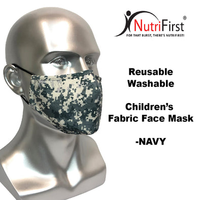 Reusable Washable Fabric Kids Face Mask