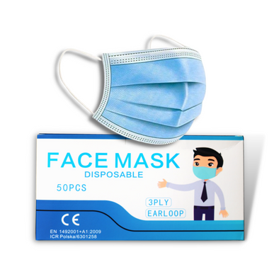 NutriFirst Disposable Face Mask CE and FDA certified