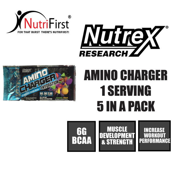 Nutrex Amino Charger + Hydration Sample Sachet (5 Packs)