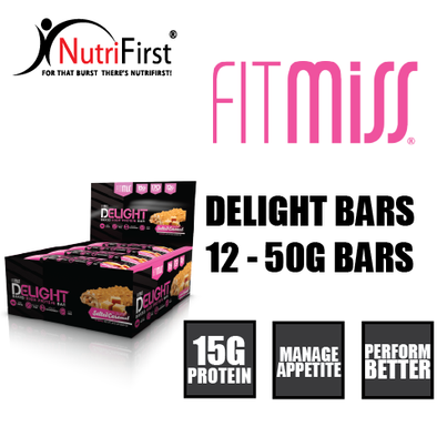 FitMiss Delight Bars (12 - 50g Bars)