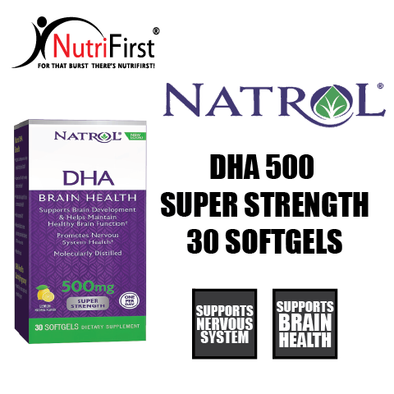 Natrol DHA 500 Super Strength (30 Softgels)