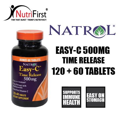 Natrol Easy-C Time Release 500mg (120+60 Tablets)