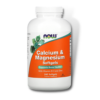NOW Calcium & Magnesium + Vitamin D (240 Softgels)