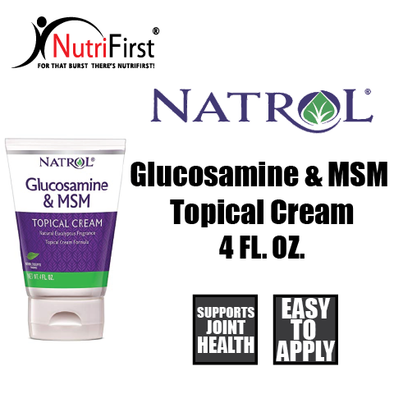 Natrol Glucosamine & MSM Topical Cream (4 Fl. Oz.)