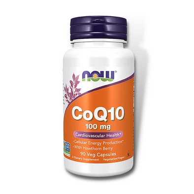 NOW CoQ10 100Mg w/ Hawthorn Berry (90 Vcaps)