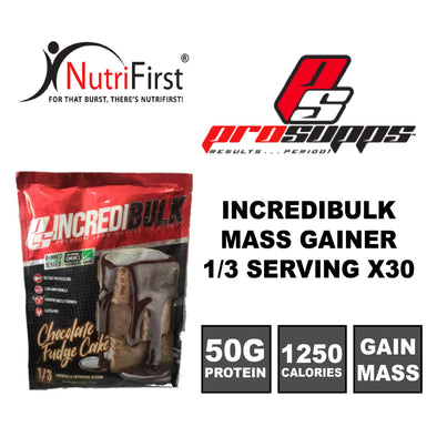 ProSupps IncrediBULK Mass Gainer Sample Sachet (30 PACKS)