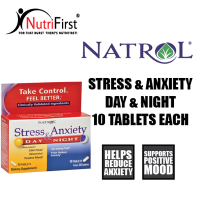 Natrol Stress & Anxiety (10 Tablets Day, 10 Tablets Nite)