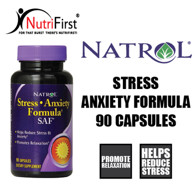 Natrol Stress Anxiety Formula SAF (90 Capsules)