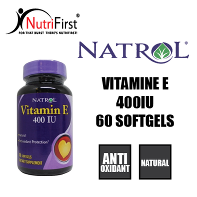 Natrol Vitamin E 400 IU (60 Softgels)
