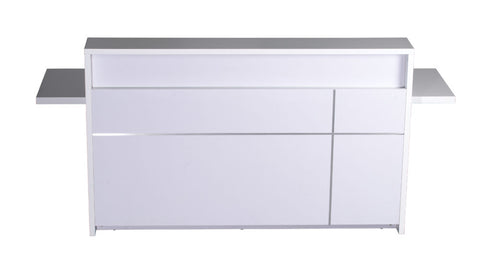 5-0 Reception Counter Gloss White - Richmond Office Furniture