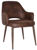 Albury XL Arm Chair Light Walnut Metal Leg - Richmond Office Furniture