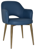 Albury Arm Chair Brass Leg - Richmond Office Furniture