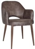 Albury Arm Chair Light Walnut Metal Leg - Richmond Office Furniture