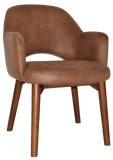 Albury Arm Chair Walnut Timber Leg - Richmond Office Furniture