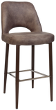 Albury Stool 75cm Dark Walnut Metal Leg - Richmond Office Furniture