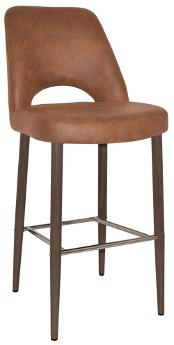 Albury Stool 75cm Light Walnut Metal Leg - Richmond Office Furniture