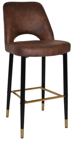 Albury Stool 75cm Brass Detail Leg - Richmond Office Furniture