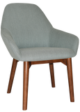 Bronte Tub Chair Walnut Timber Leg - Richmond Office Furniture