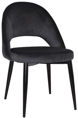 Chevron Chair Black Metal Leg - Richmond Office Furniture