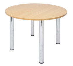 MEETING TABLE ROUND CHROME LEG - Richmond Office Furniture
