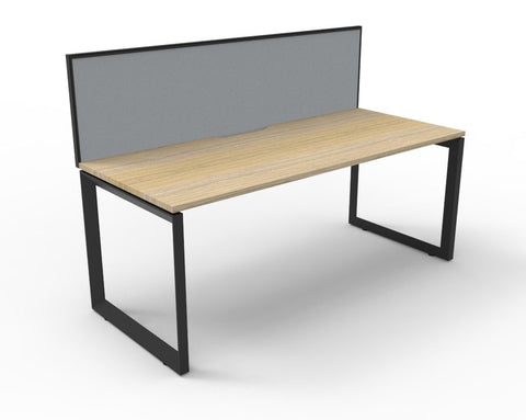 DELUXE LOOP LEG DESK WITH SCREEN - Richmond Office Furniture