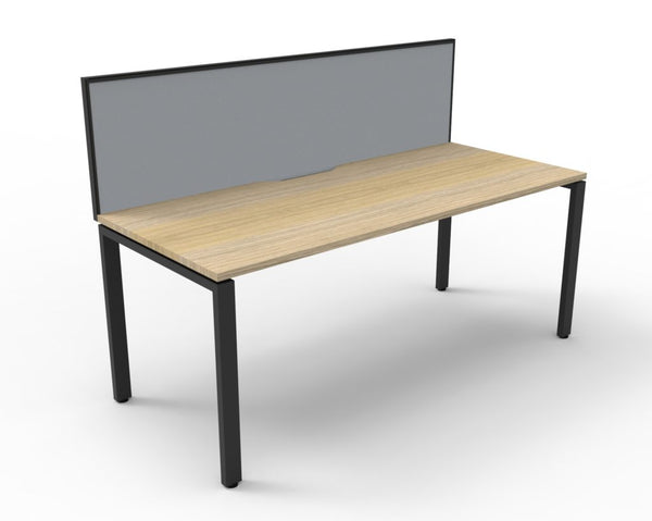 DELUXE PROFILE LEG DESK WITH SCREEN - Richmond Office Furniture