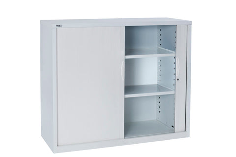 GO TAMBOUR DOOR CUPBOARD WHITE - Richmond Office Furniture