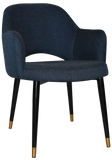 Albury Arm Chair Brass Tip Black Leg - Richmond Office Furniture