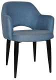 ALBURY ARM CHAIR BLACK METAL  LEG - Richmond Office Furniture