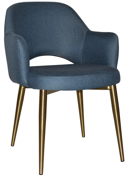 ALBURY ARM CHAIR BRASS METAL LEG - Richmond Office Furniture