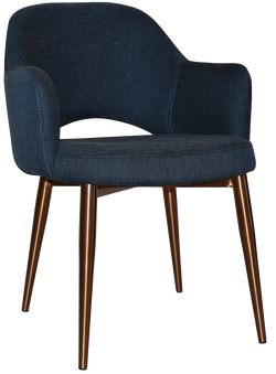 Albury Arm Chair Copper Leg - Richmond Office Furniture