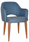 Albury Arm Chair Light Oak Metal Leg - Richmond Office Furniture