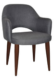 ALBURY ARM CHAIR WALNUT METAL LEG - Richmond Office Furniture
