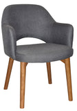 Albury Arm Chair Light Oak Timber Leg - Richmond Office Furniture