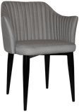 COOGEE ARM CHAIR BLACK METAL LEG - Richmond Office Furniture
