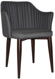 Coogee Arm Chair Dark Walnut Metal Leg - Richmond Office Furniture