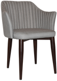 COOGEE ARM CHAIR WALNUT METAL LEG - Richmond Office Furniture