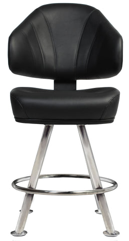 Luxor Gaming Stool Stainless Steel Legs - Richmond Office Furniture