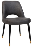 ALBURY CHAIR BRASS TIP BLACK METAL LEG - Richmond Office Furniture