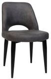 ALBURY CHAIR BLACK METAL LEG - Richmond Office Furniture
