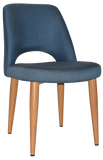 ALBURY CHAIR LIGHT OAK METAL LEG - Richmond Office Furniture