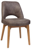 ALBURY CHAIR LIGHT OAK TIMBER LEG - Richmond Office Furniture
