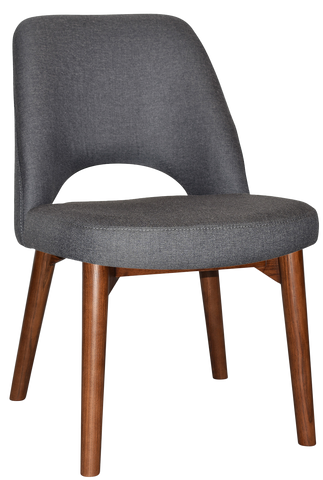 ALBURY CHAIR WALNUT SOLID TIMBER LEG - Richmond Office Furniture