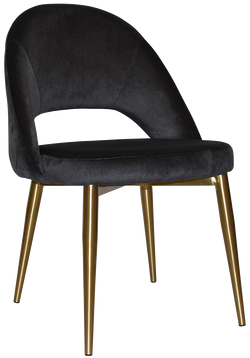 Chevron Chair Brass Leg - Richmond Office Furniture