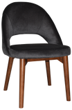 Chevron Chair Walnut Timber Leg - Richmond Office Furniture