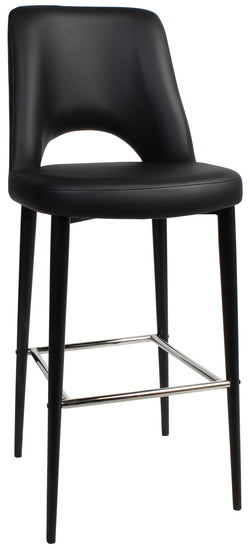 ALBURY STOOL 75CM HIGH BLACK METAL LEG - Richmond Office Furniture