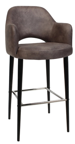 ALBURY TUB STOOL 75CM BLACK METAL LEG - Richmond Office Furniture