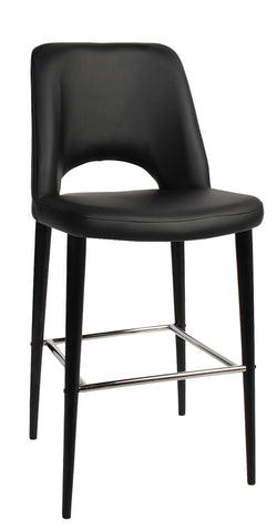 ALBURY STOOL 65CM HIGH BLACK METAL LEG - Richmond Office Furniture